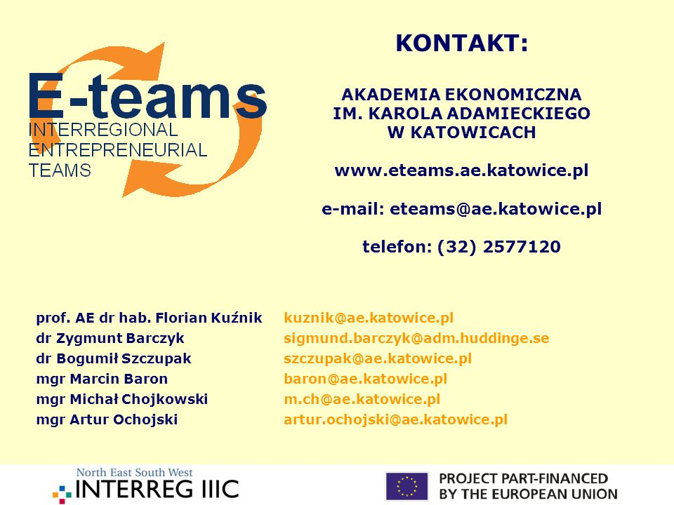 IM. KAROLA ADAMIECKIEGO e-mail: eteams@ae.katowice.pl