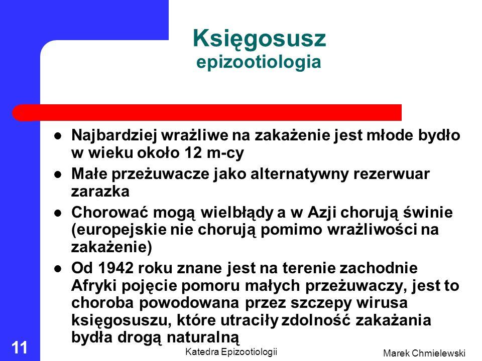 Księgosusz epizootiologia
