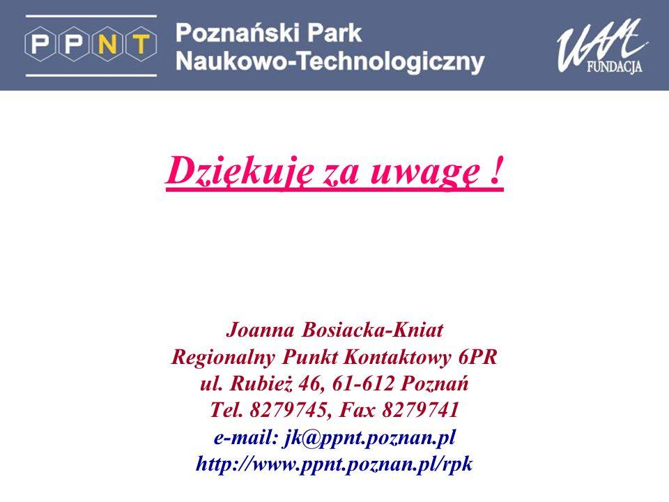 Dziękuję za uwagę ! Joanna Bosiacka-Kniat