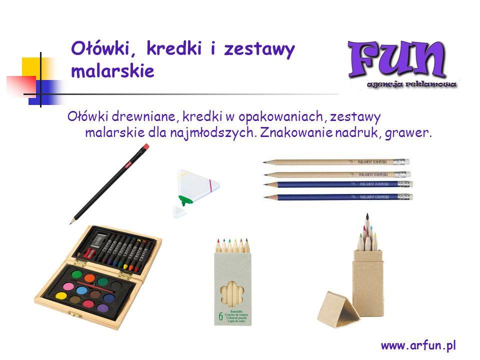 Ołówki, kredki i zestawy malarskie
