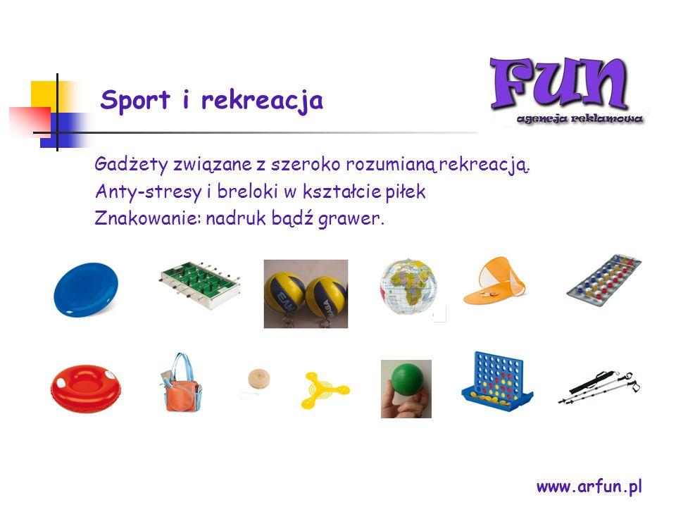 Sport i rekreacja Gadżety związane z szeroko rozumianą rekreacją.