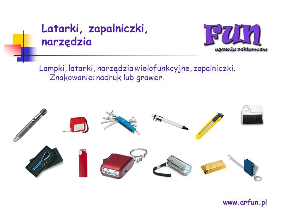 Latarki, zapalniczki, narzędzia