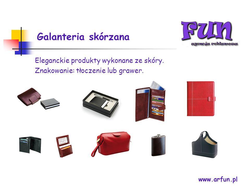 Galanteria skórzana Eleganckie produkty wykonane ze skóry.