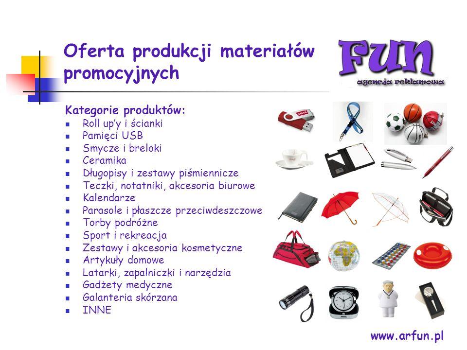 Oferta produkcji materiałów promocyjnych