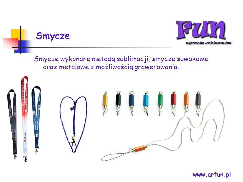 Smycze Smycze wykonane metodą sublimacji, smycze suwakowe oraz metalowe z możliwością grawerowania.