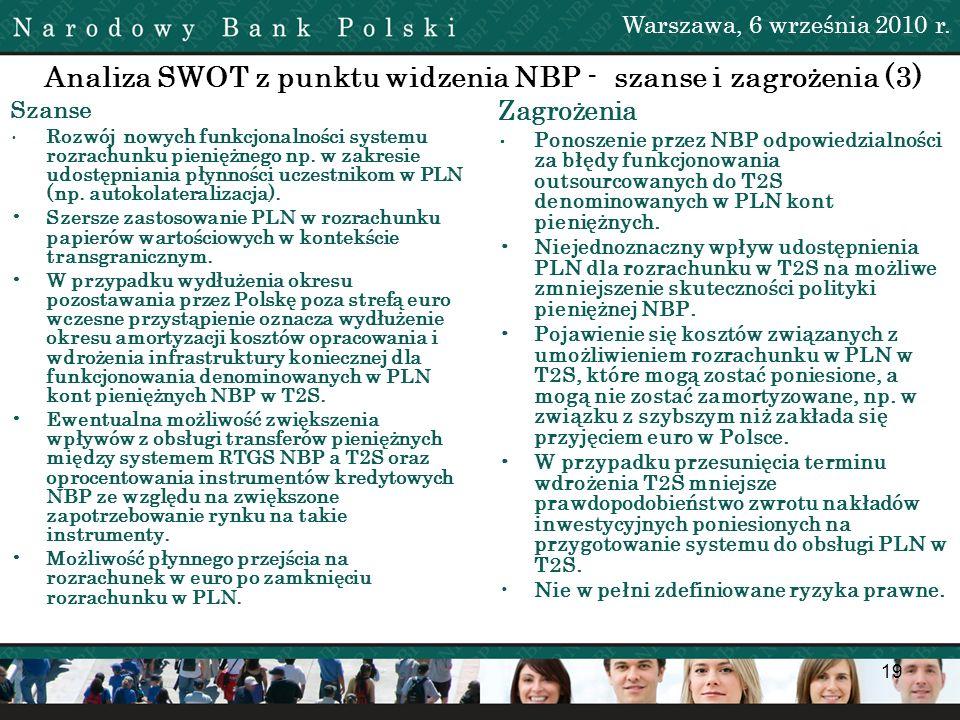 Analiza SWOT z punktu widzenia NBP - szanse i zagrożenia (3)