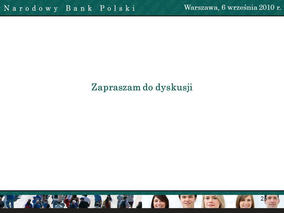 Warszawa, 6 września 2010 r. Zapraszam do dyskusji