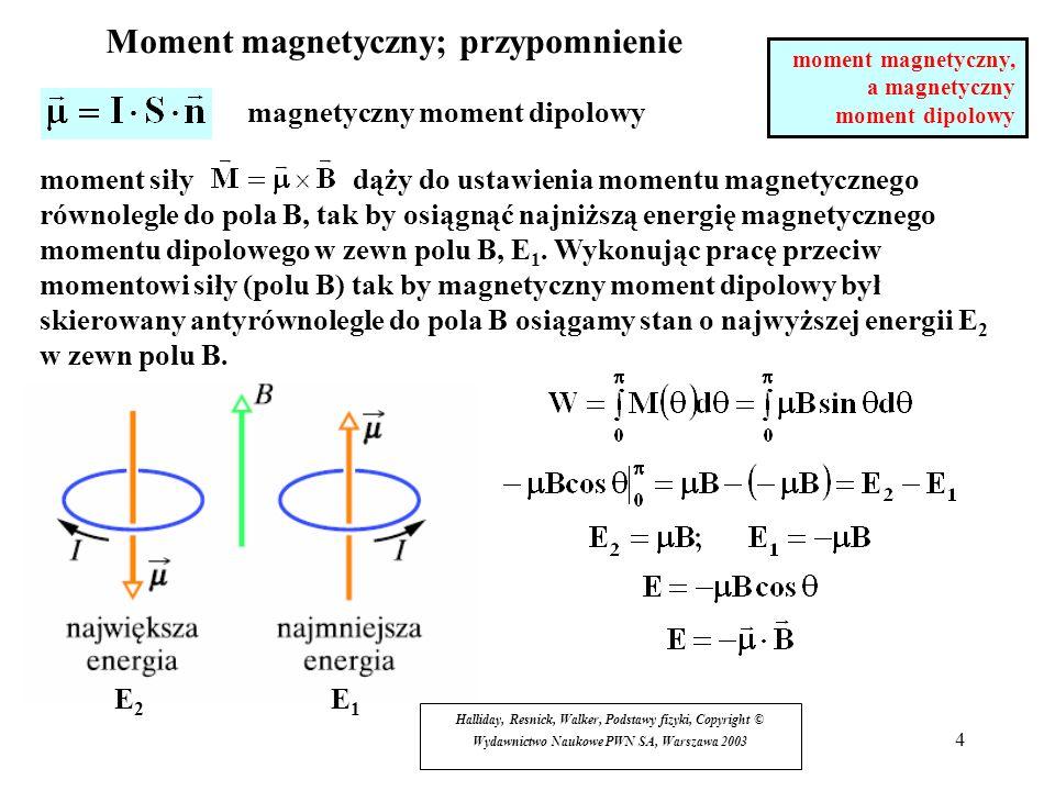 Moment magnetyczny; przypomnienie