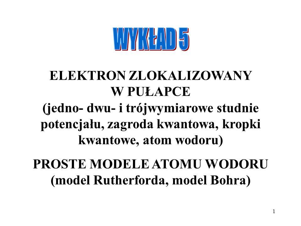 PROSTE MODELE ATOMU WODORU (model Rutherforda, model Bohra)