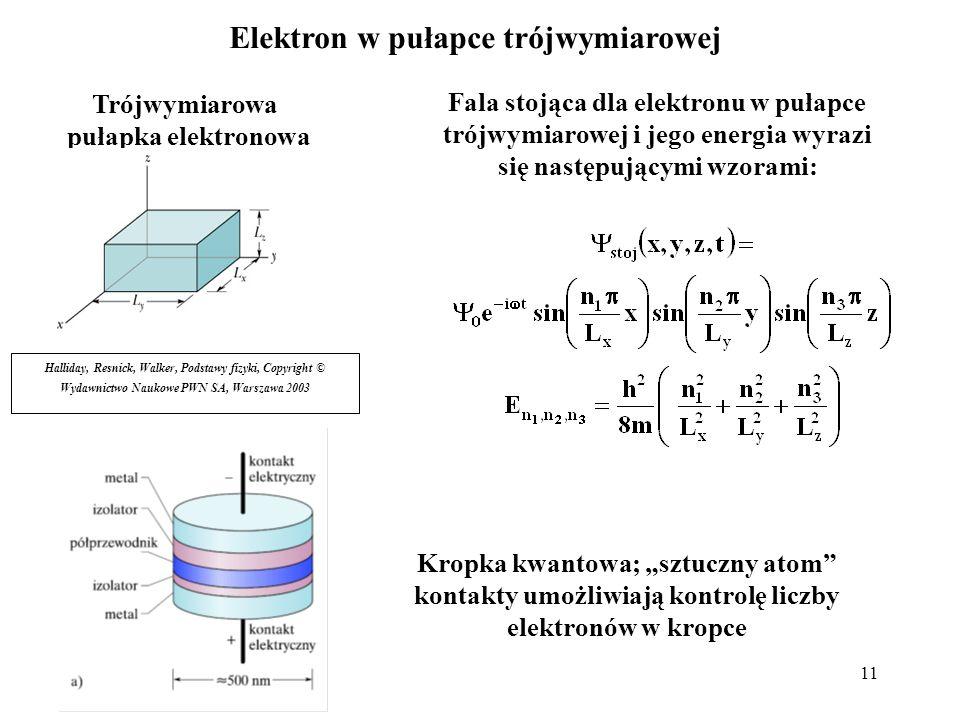 Elektron w pułapce trójwymiarowej Trójwymiarowa pułapka elektronowa