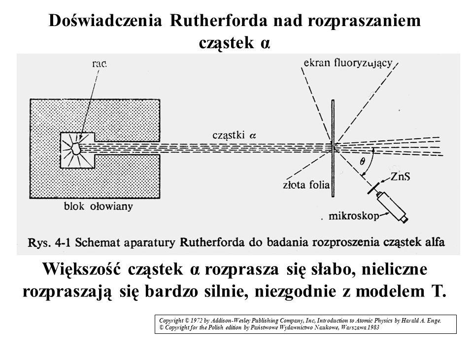 Doświadczenia Rutherforda nad rozpraszaniem cząstek α