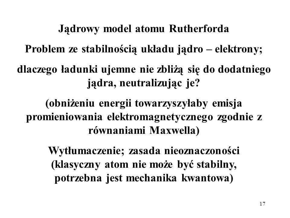 Jądrowy model atomu Rutherforda