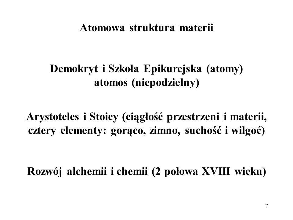 Atomowa struktura materii