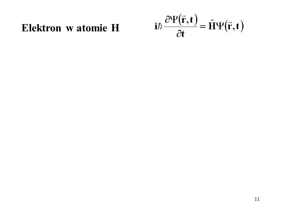 Elektron w atomie H