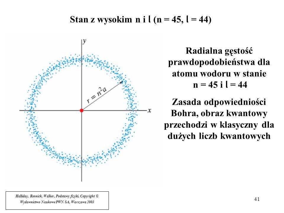Stan z wysokim n i l (n = 45, l = 44)