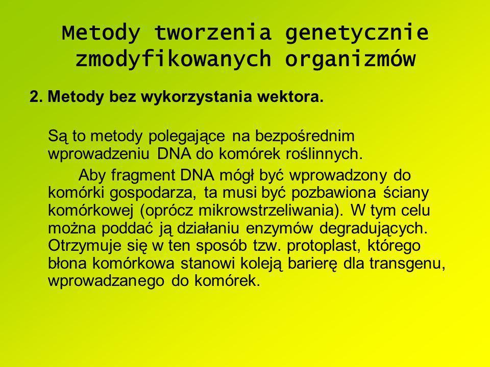 Metody tworzenia genetycznie zmodyfikowanych organizmów