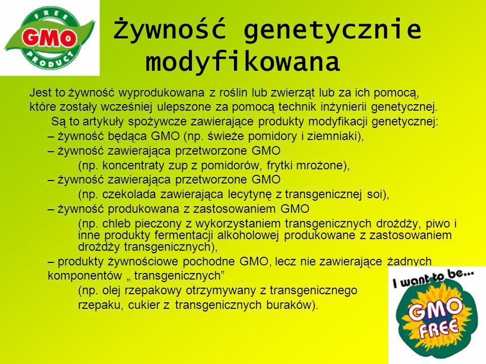 Żywność genetycznie modyfikowana
