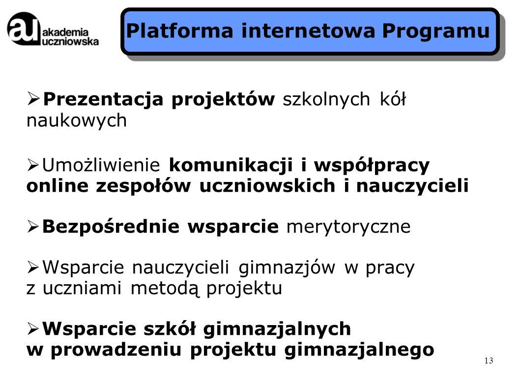 Platforma internetowa Programu