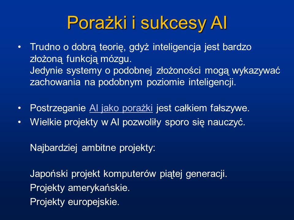 Porażki i sukcesy AI