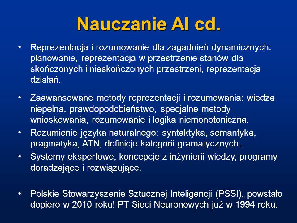 Nauczanie AI cd.