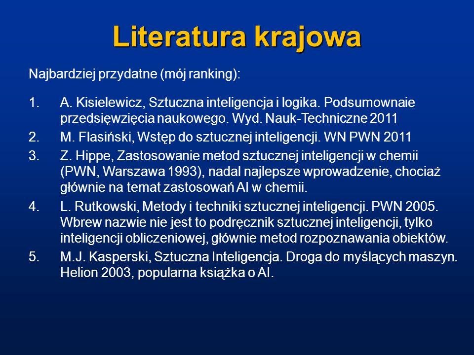 Literatura krajowa Najbardziej przydatne (mój ranking):