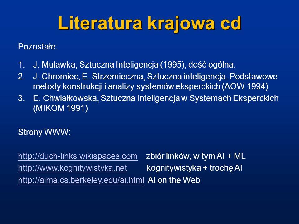 Literatura krajowa cd Pozostałe: