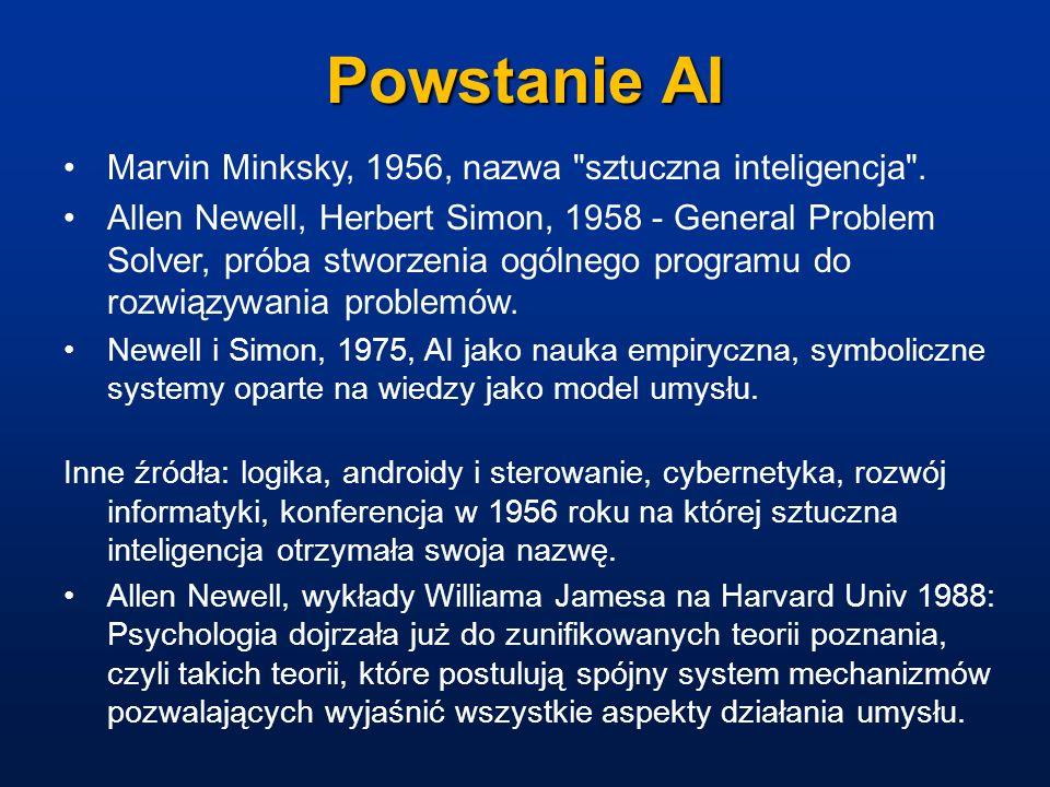 Powstanie AI Marvin Minksky, 1956, nazwa sztuczna inteligencja .
