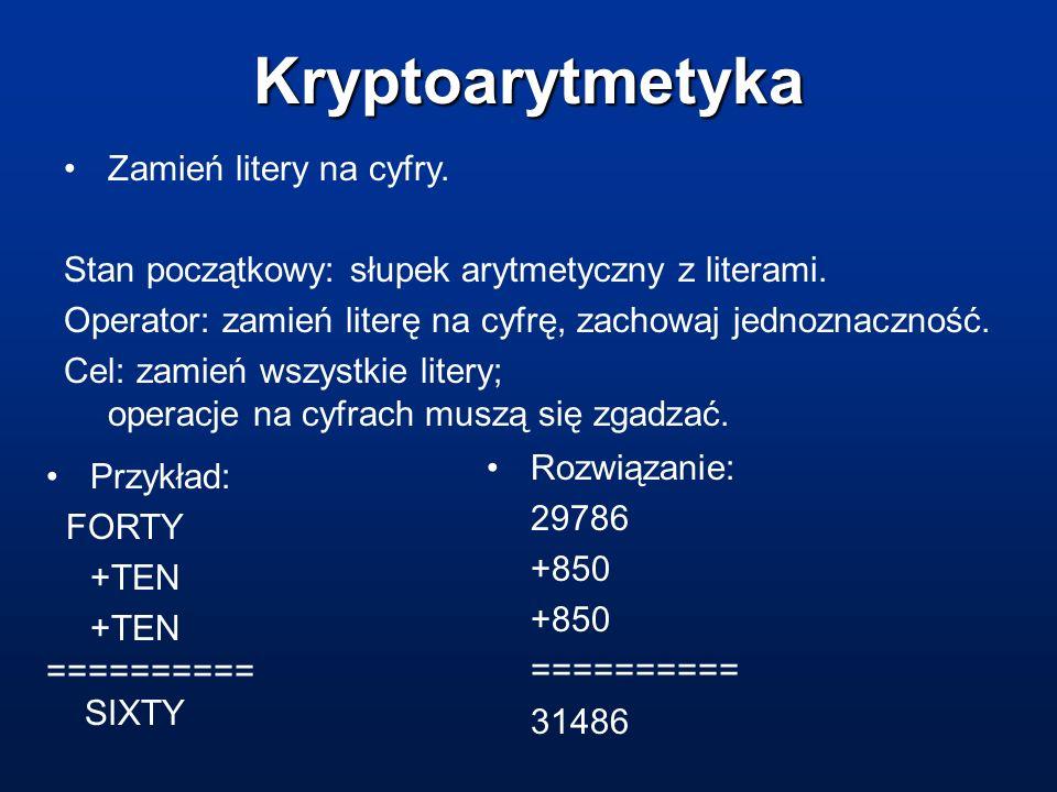 Kryptoarytmetyka Zamień litery na cyfry.