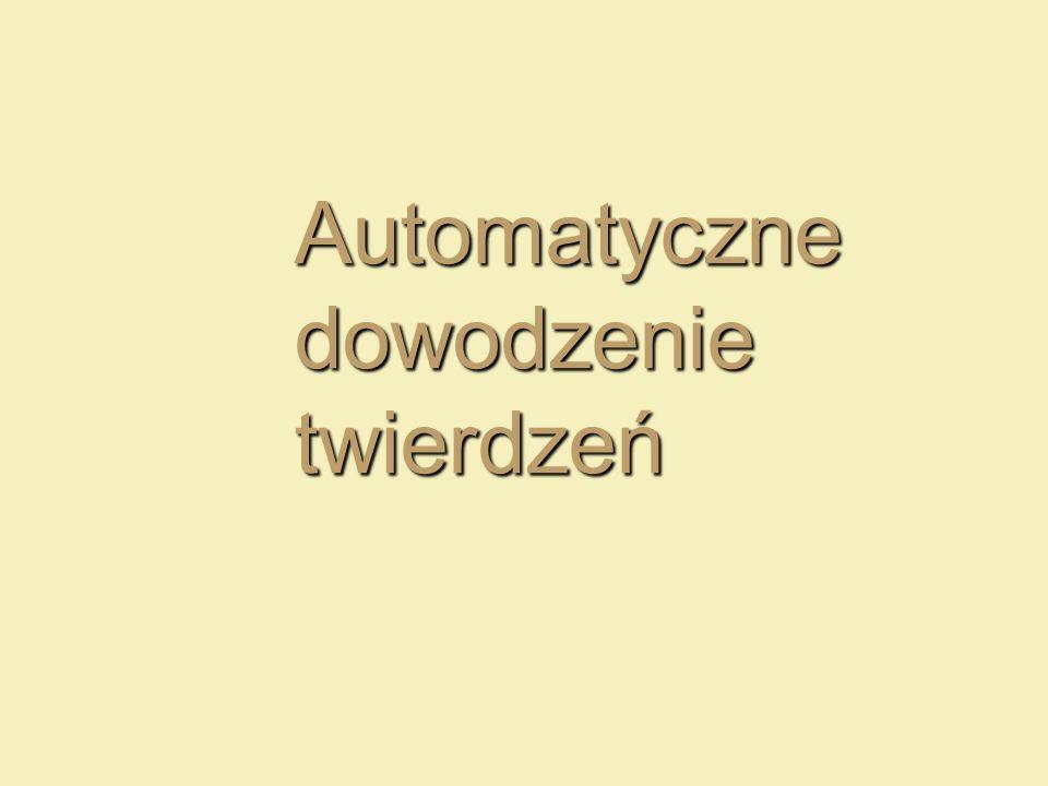 Automatyczne dowodzenie twierdzeń