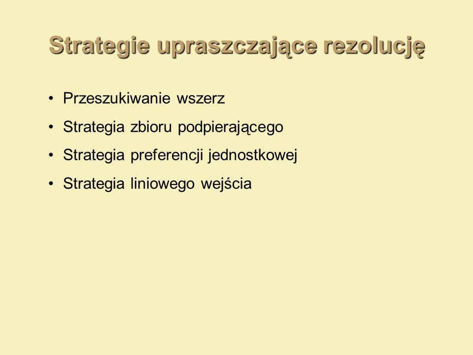 Strategie upraszczające rezolucję