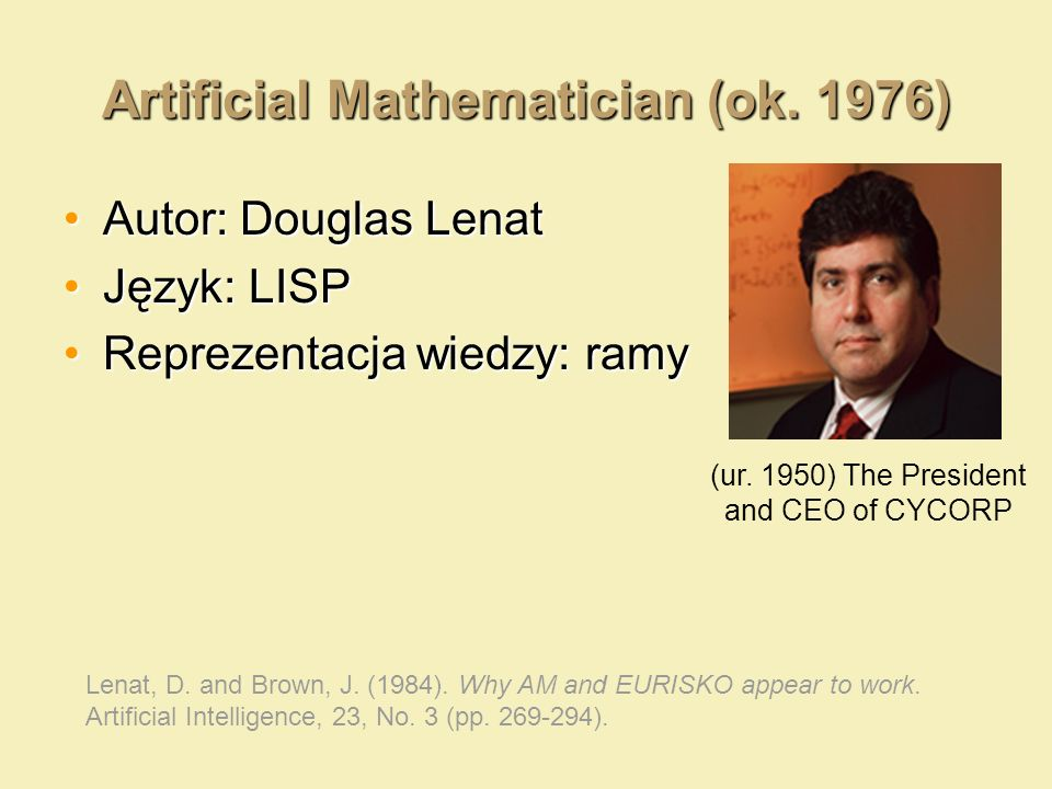 Artificial Mathematician (ok. 1976)