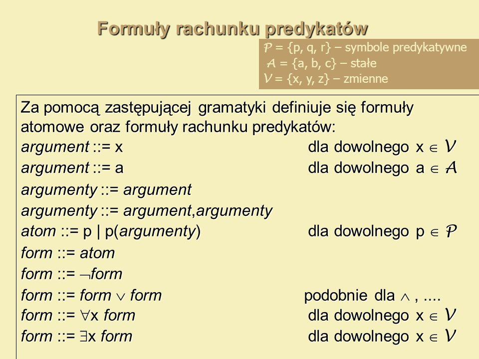 Formuły rachunku predykatów