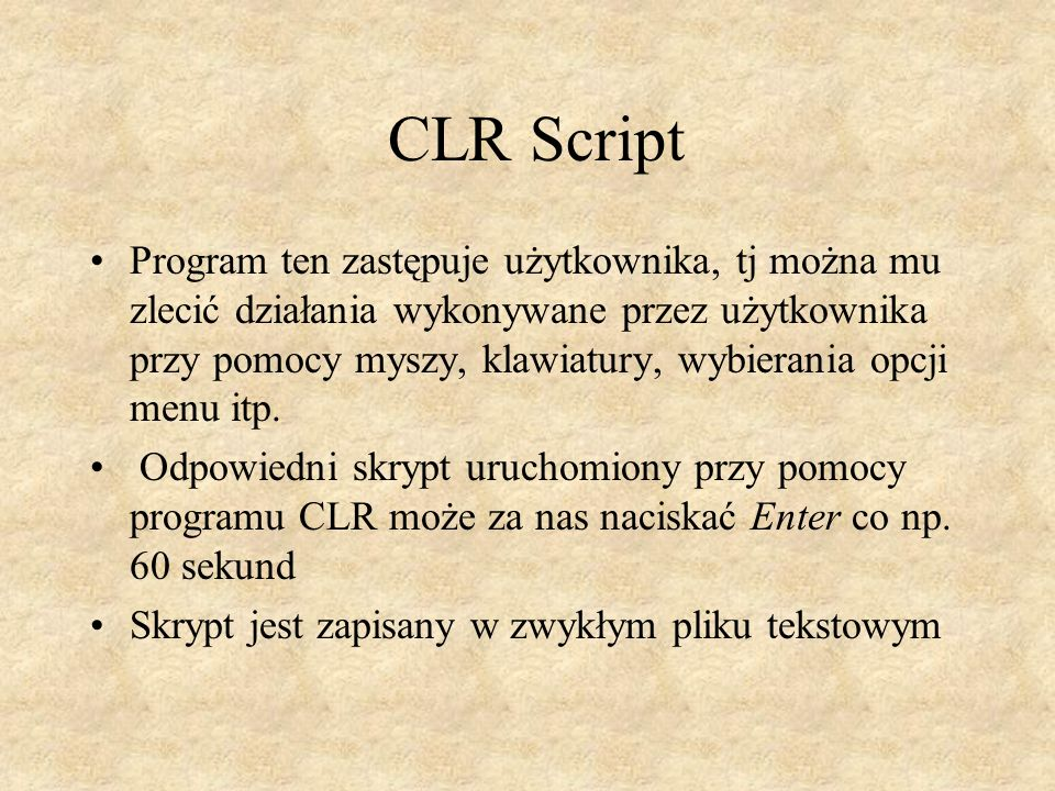 CLR Script