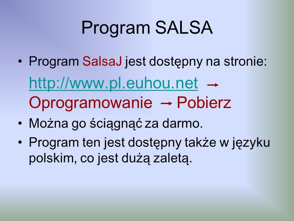 Program SALSA Program SalsaJ jest dostępny na stronie:
