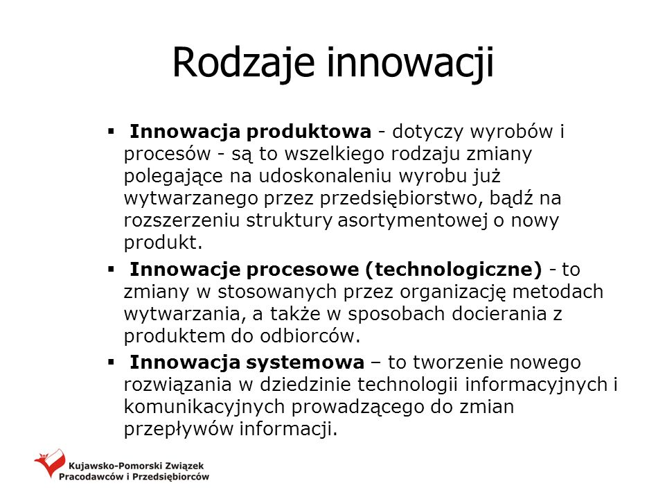 Rodzaje innowacji