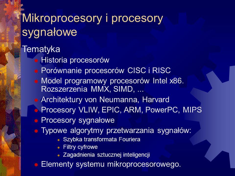 Mikroprocesory i procesory sygnałowe
