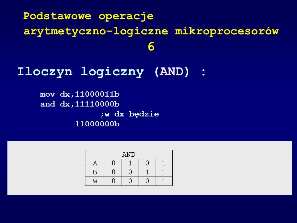 arytmetyczno-logiczne mikroprocesorów 6