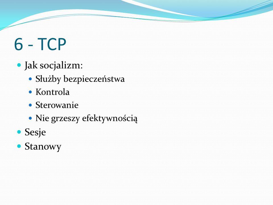 6 - TCP Jak socjalizm: Sesje Stanowy Służby bezpieczeństwa Kontrola