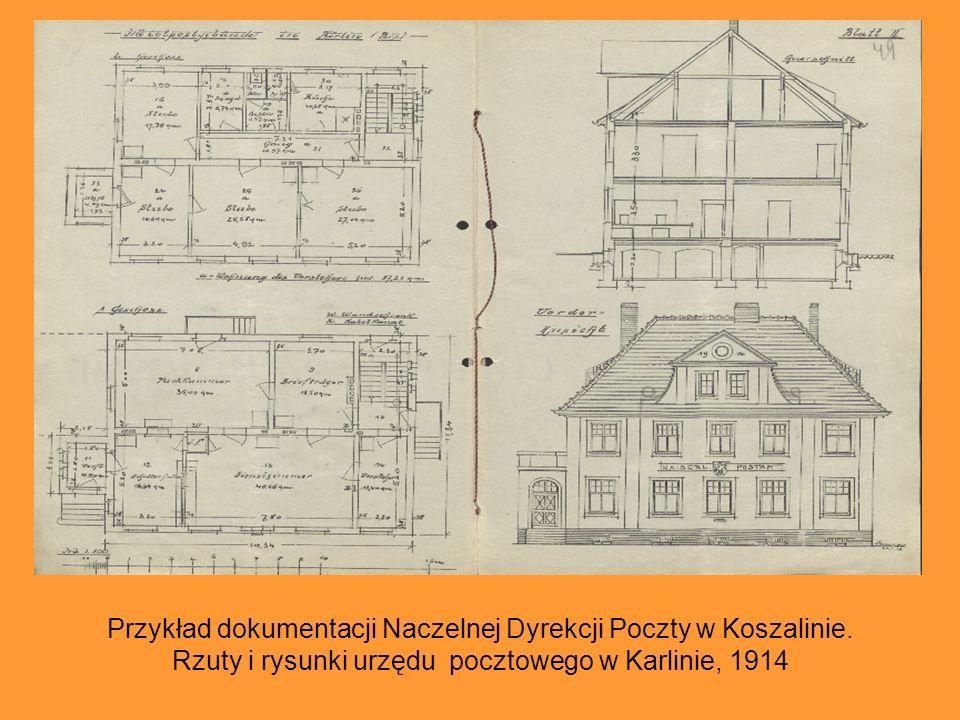 Przykład dokumentacji Naczelnej Dyrekcji Poczty w Koszalinie