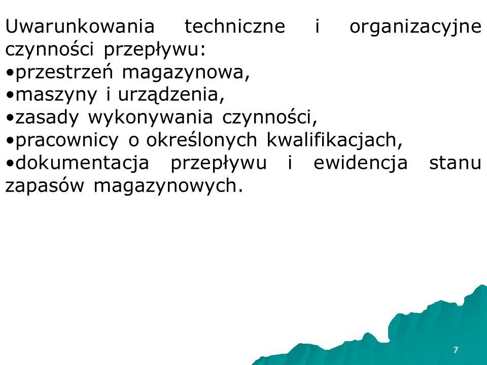 Uwarunkowania techniczne i organizacyjne czynności przepływu: