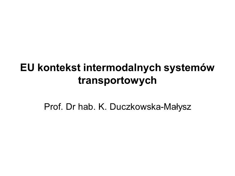 EU kontekst intermodalnych systemów transportowych