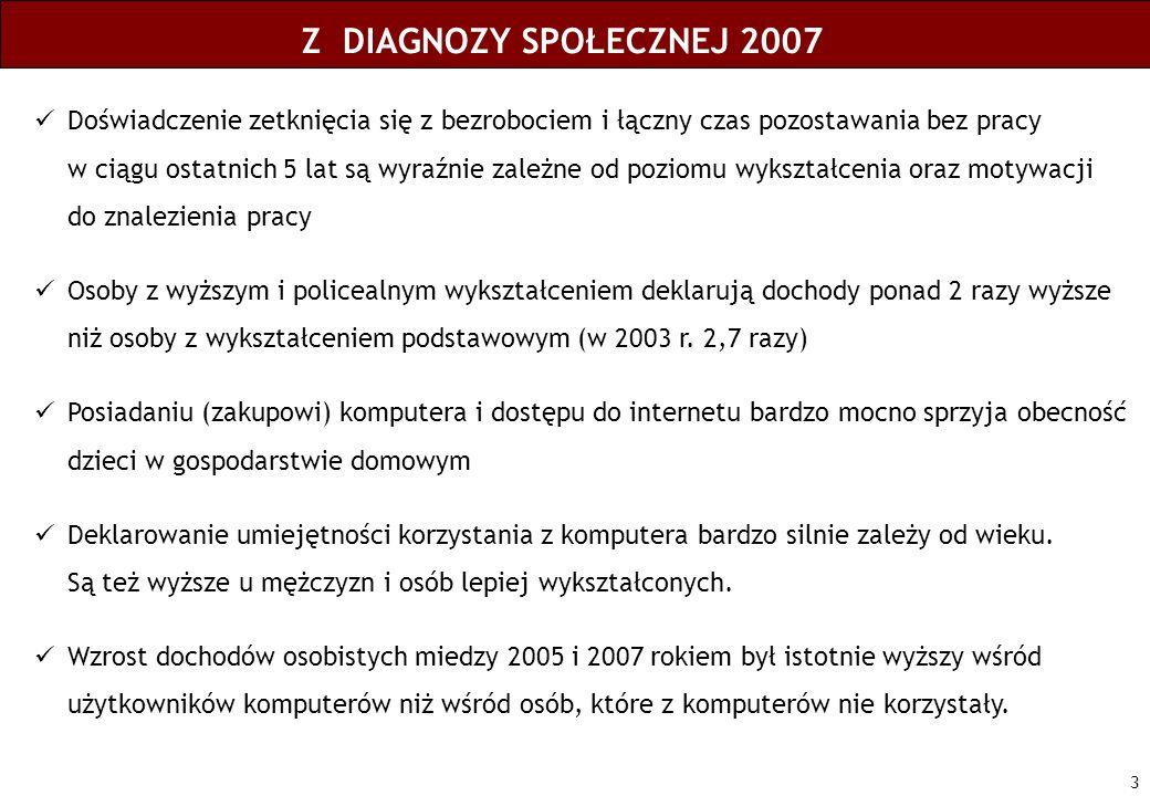 Z DIAGNOZY SPOŁECZNEJ 2007