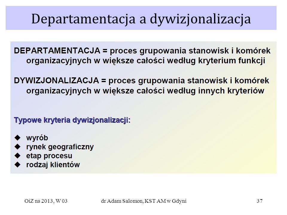 Departamentacja a dywizjonalizacja