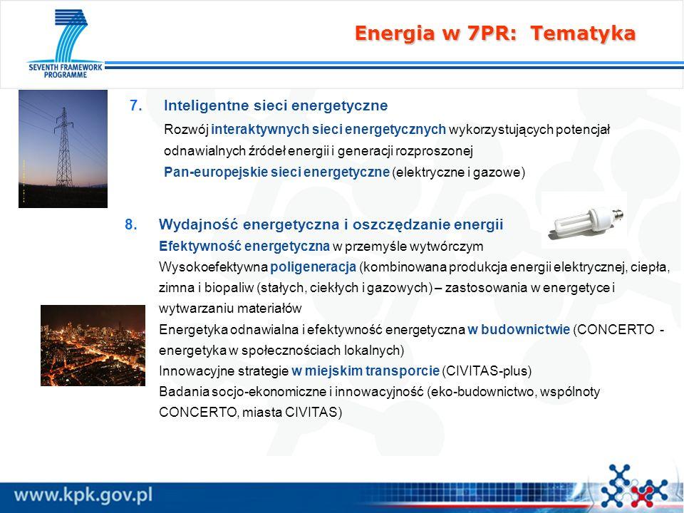 Energia w 7PR: Tematyka Inteligentne sieci energetyczne