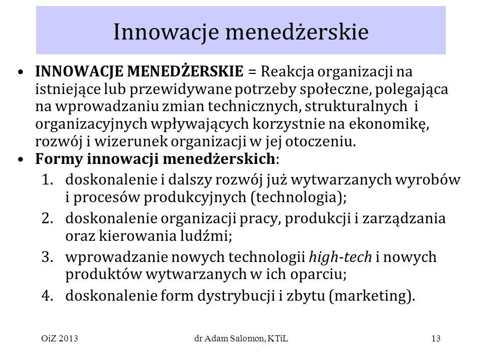 Innowacje menedżerskie