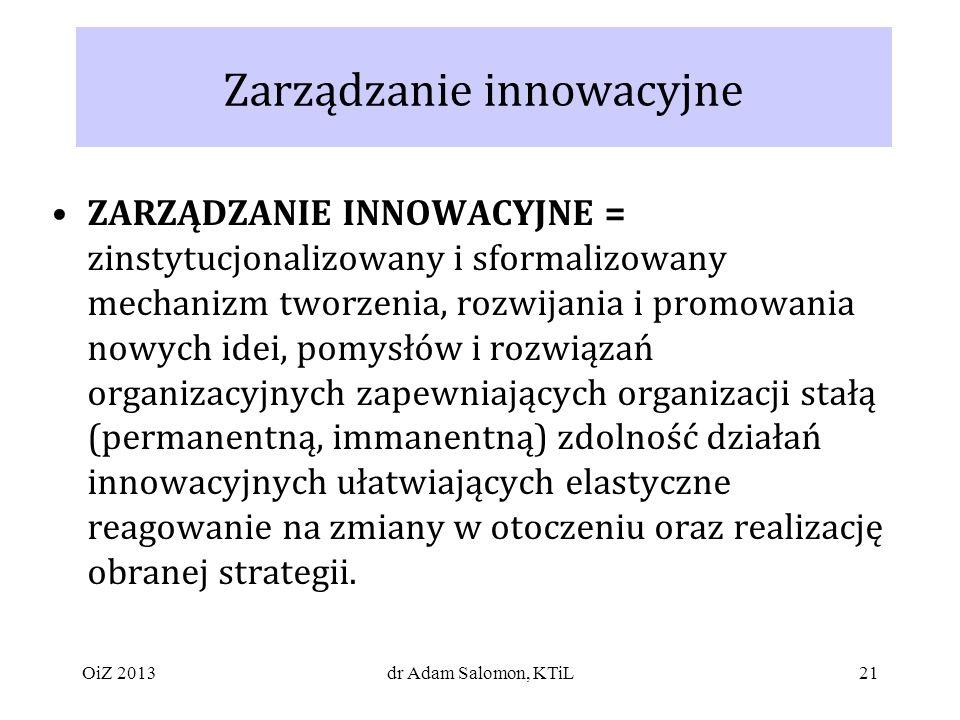 Zarządzanie innowacyjne