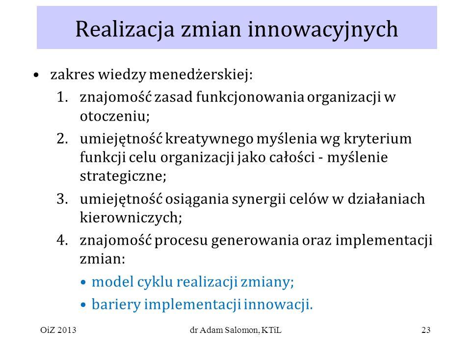 Realizacja zmian innowacyjnych