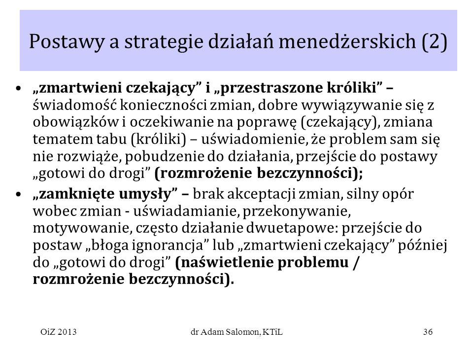 Postawy a strategie działań menedżerskich (2)