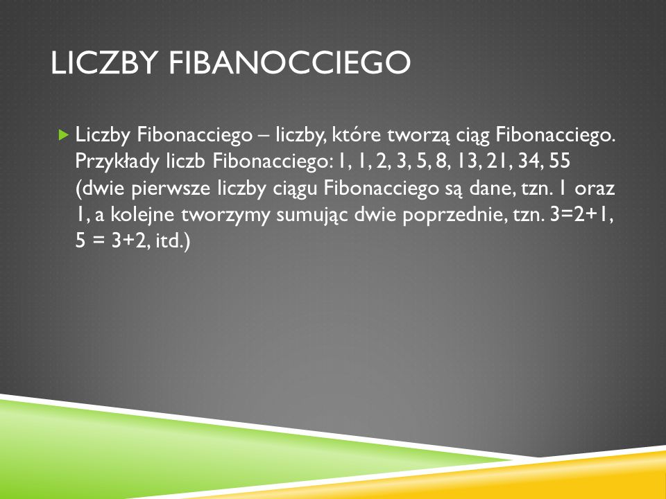 Liczby fibanocciego