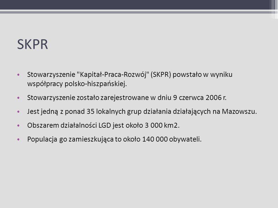 SKPR Stowarzyszenie Kapitał-Praca-Rozwój (SKPR) powstało w wyniku współpracy polsko-hiszpańskiej.